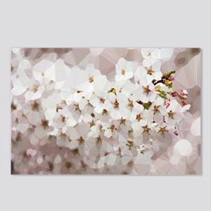 Cherry Blossom Low Poly Floral Postcards (Package