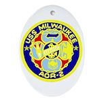 USS Milwaukee (AOR 2) Oval Ornament