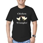 Chicken Wrangler Men's Fitted T-Shirt (dark)