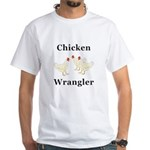 Chicken Wrangler White T-Shirt