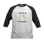 Chicken Wrangler Kids Baseball Jersey