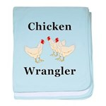 Chicken Wrangler baby blanket