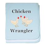 Chicken Wrangler baby blanket