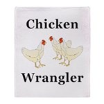 Chicken Wrangler Throw Blanket