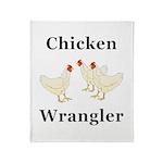 Chicken Wrangler Throw Blanket