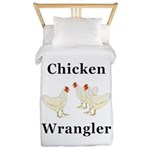 Chicken Wrangler Twin Duvet