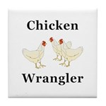 Chicken Wrangler Tile Coaster