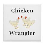 Chicken Wrangler Tile Coaster