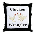 Chicken Wrangler Throw Pillow