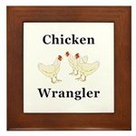 Chicken Wrangler Framed Tile