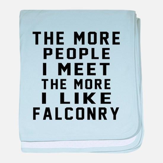 I Like More Falconry baby blanket
