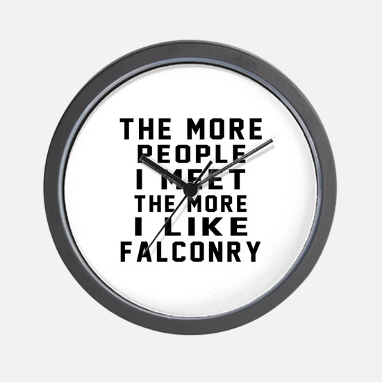 I Like More Falconry Wall Clock