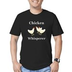 Chicken Whisperer Men's Fitted T-Shirt (dark)