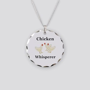 Chicken Whisperer Necklace Circle Charm