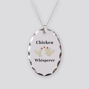 Chicken Whisperer Necklace Oval Charm
