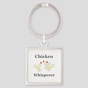 Chicken Whisperer Square Keychain