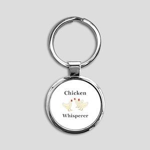 Chicken Whisperer Round Keychain