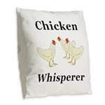 Chicken Whisperer Burlap Throw Pillow