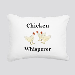 Chicken Whisperer Rectangular Canvas Pillow