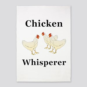 Chicken Whisperer 5'x7'Area Rug