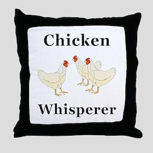 Chicken Whisperer Throw Pillow