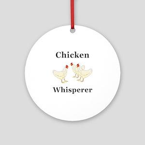 Chicken Whisperer Round Ornament