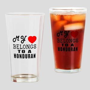 I Love Honduran Drinking Glass