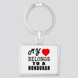 I Love Honduran Landscape Keychain
