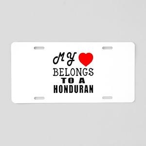 I Love Honduran Aluminum License Plate