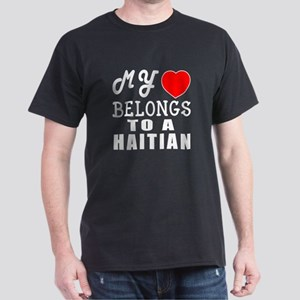 I Love Haitian Dark T-Shirt