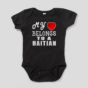 I Love Haitian Baby Bodysuit