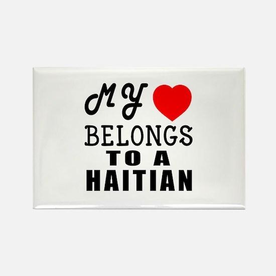 I Love Haitian Rectangle Magnet