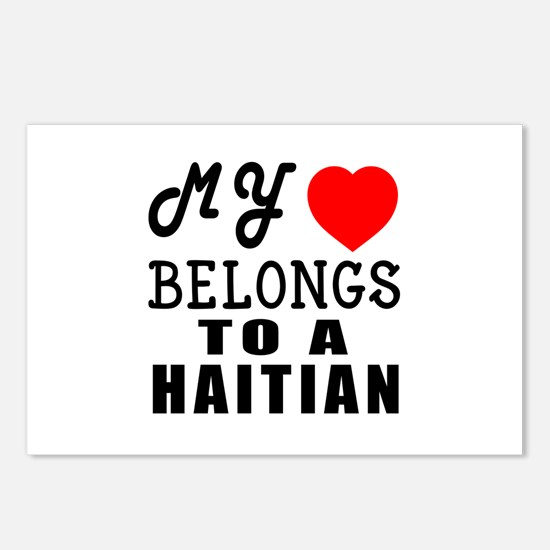 I Love Haitian Postcards (Package of 8)