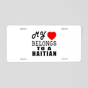I Love Haitian Aluminum License Plate