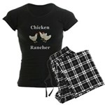 Chicken Rancher Women's Dark Pajamas