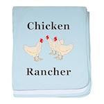 Chicken Rancher baby blanket
