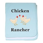 Chicken Rancher baby blanket