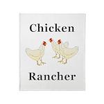 Chicken Rancher Throw Blanket