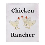 Chicken Rancher Throw Blanket