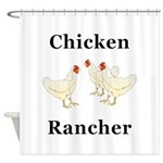 Chicken Rancher Shower Curtain