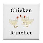 Chicken Rancher Tile Coaster