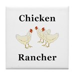 Chicken Rancher Tile Coaster