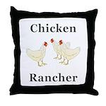 Chicken Rancher Throw Pillow