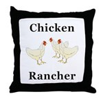 Chicken Rancher Throw Pillow
