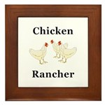 Chicken Rancher Framed Tile