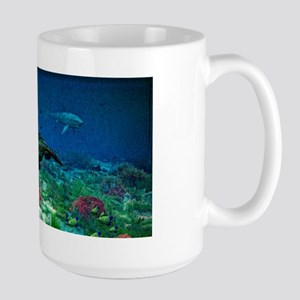 Sea turtles swim through Sea Mugs