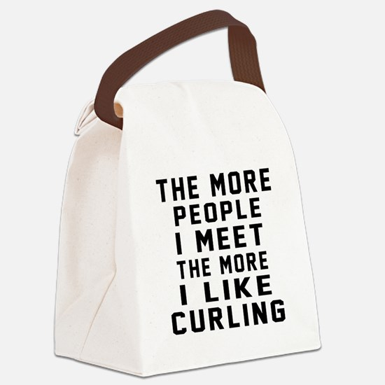 I Like More Curling Canvas Lunch Bag