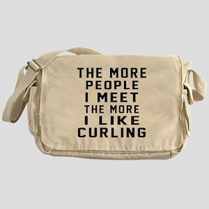 I Like More Curling Messenger Bag