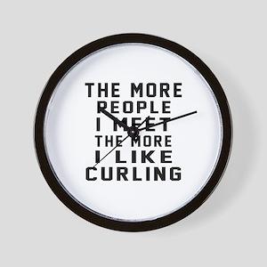 I Like More Curling Wall Clock