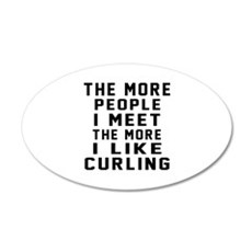I Like More Curling Wall Decal